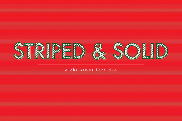 Striped & Solid - A Christmas Font Duo