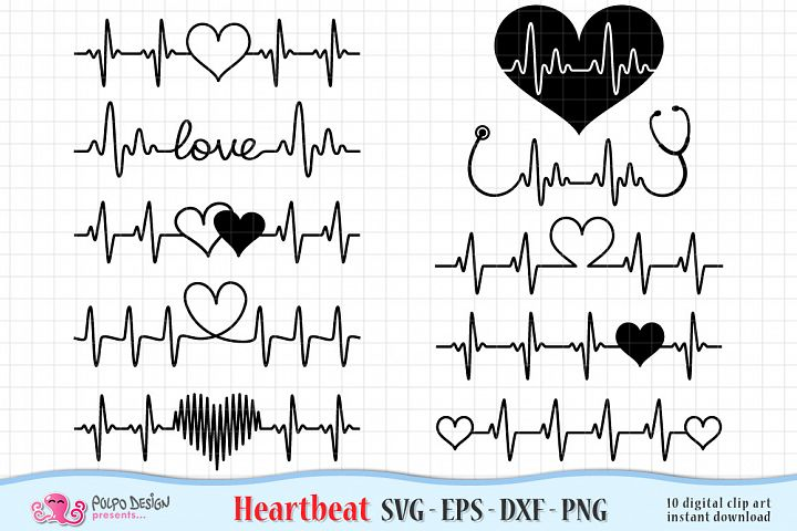Heartbeat Valentines Day SVG