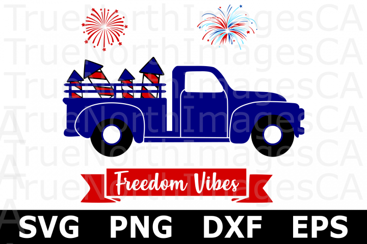 Fireworks Truck - An American SVG Cut File