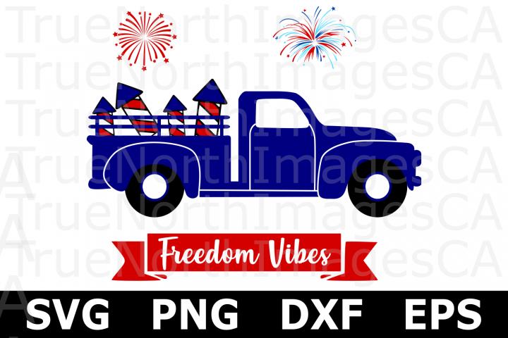 Fireworks Truck - An American SVG Cut File