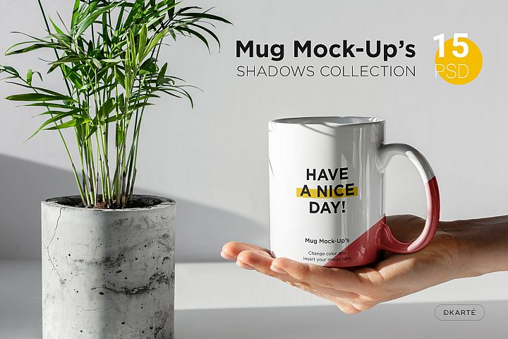 Mug Mock-Ups Shadows Collection