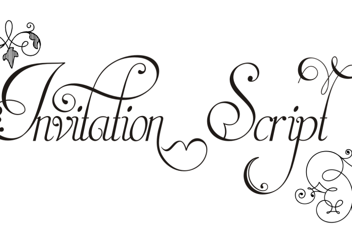 Invitation Script Pack (4 fonts)