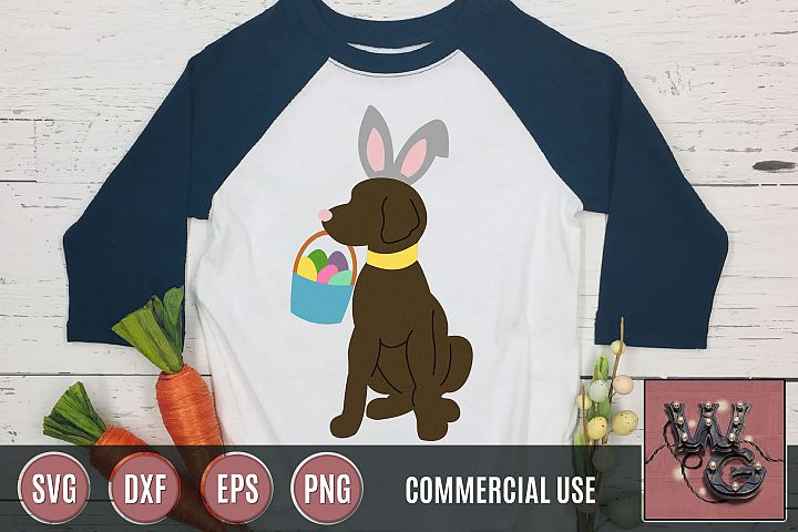 Dog Easter Bunny SVG DXF PNG EPS Commercial