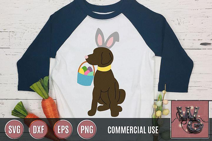 Dog Easter Bunny SVG DXF PNG EPS Commercial