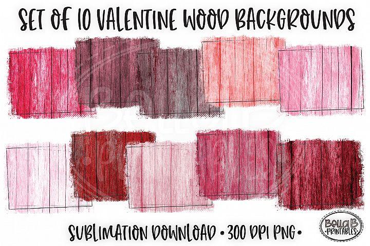Valentines Sublimation Background Bundle, Wood Backsplash