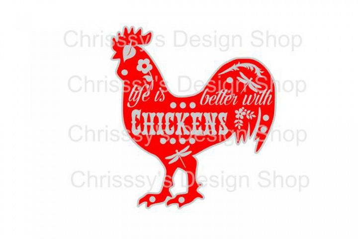 Life with Chickens / chicken lovers SVG, DXF, EPS