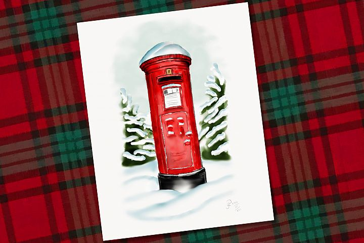 Snowy Pillar Box