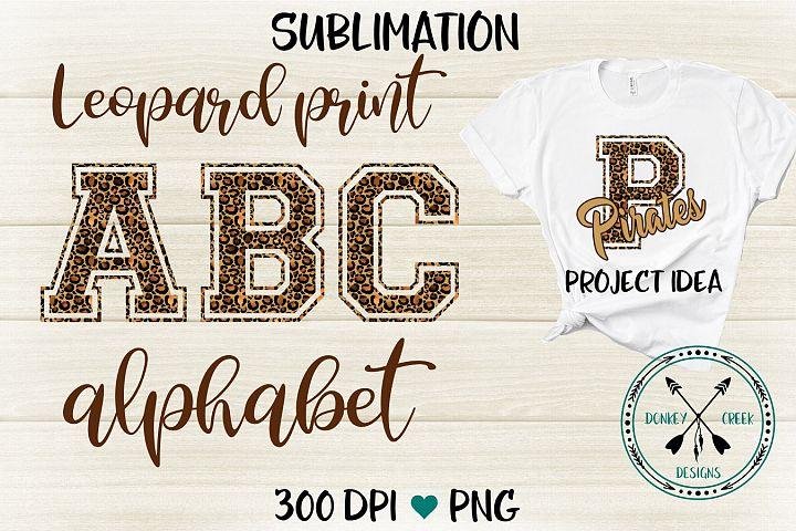 Sport Style Leopard PNG Alphabet for Sublimation