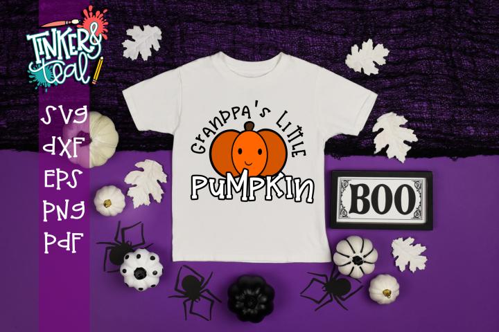 Grandpas Little Pumpkin Fall SVG
