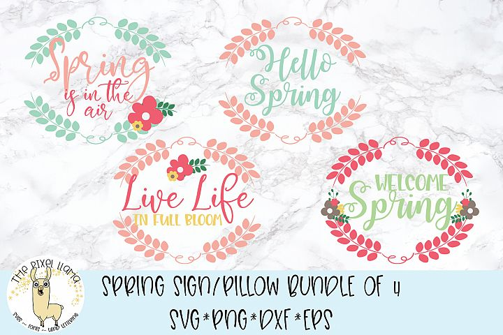 Spring Bundle for Signs and Pillows SVG Cut File
