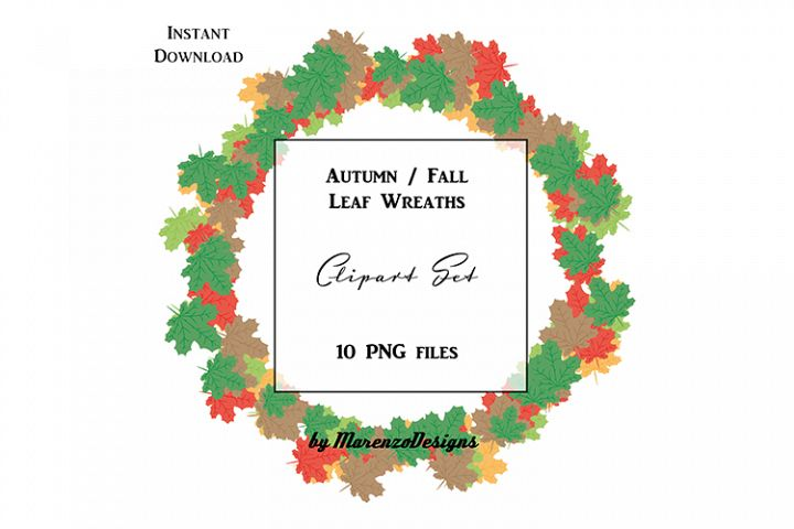 Autumn / Fall Leaf Wreaths