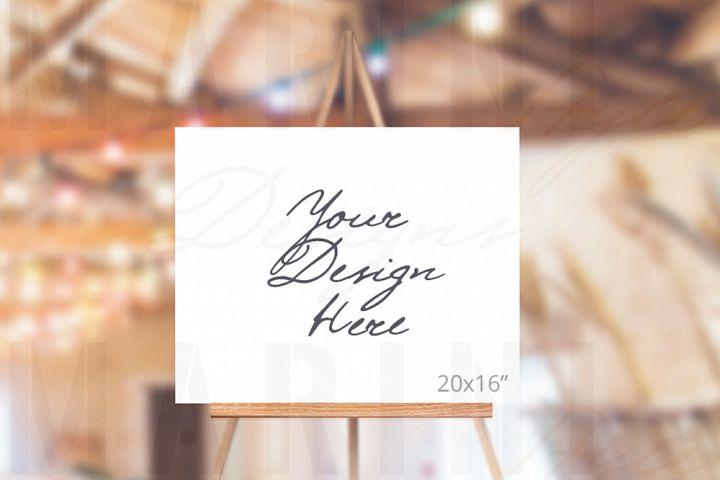 Easel Mockup, Wedding Sign Mockup, Welcome sign mockup, 994