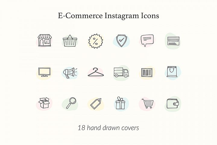 E-Commerce Minimal Instagram Icons