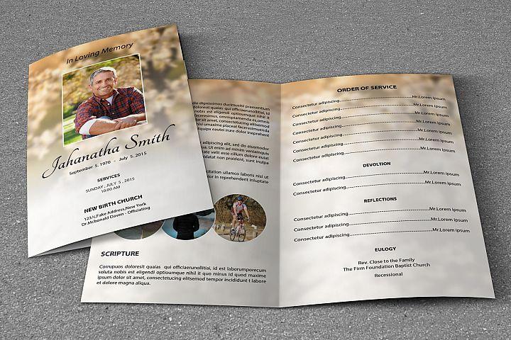 Memorial Funeral Program Template example image 2