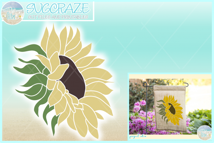 Sunflower Svg Dxf Eps Png Pdf Files For Cricut Silhouette