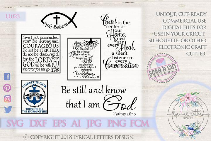 SALE! Religious Scripture Bundle of 6 SVG DXF FCM LL023