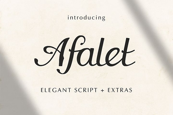 The Afalet font