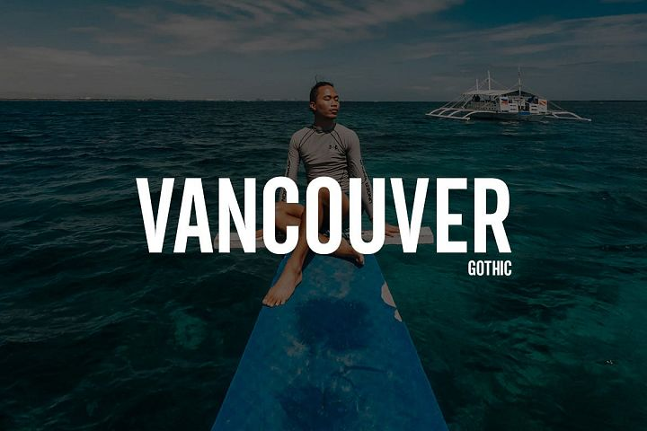 Vancouver - Gothic Typeface