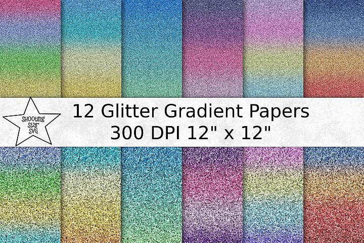 Glitter Gradient Fine and Chunky Digital Paper - Patterns