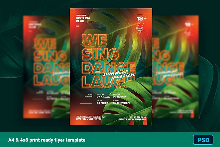 Summer Neon Club Flyer