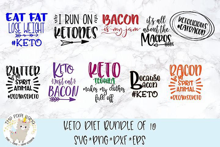Keto Diet Bundle of 10 SVG Cut Files