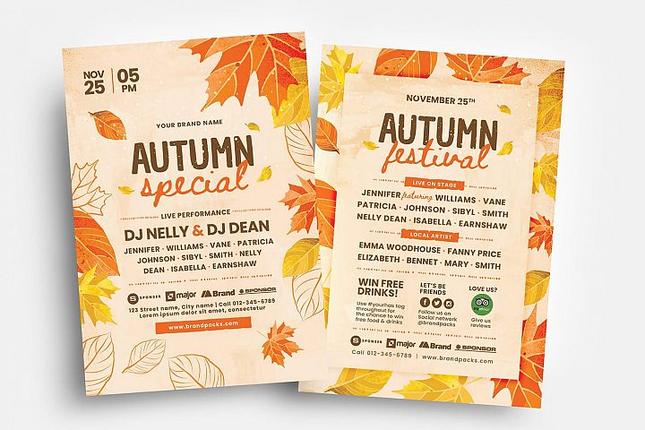 Autumn Fall Flyer Templates