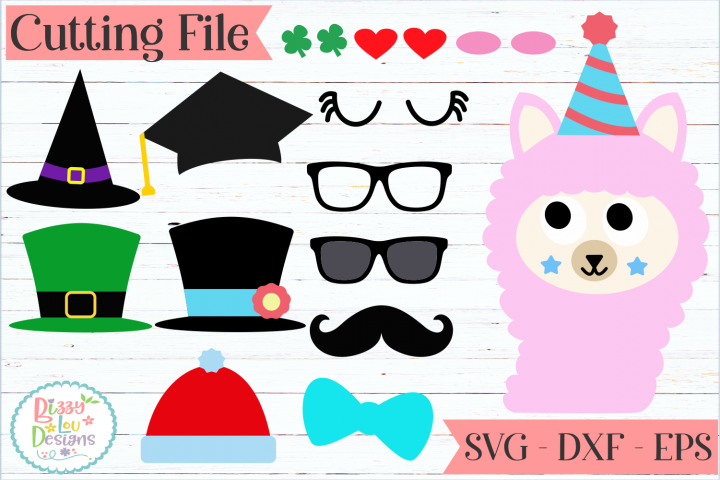 Llama Face and accessories maker SVG Cut File