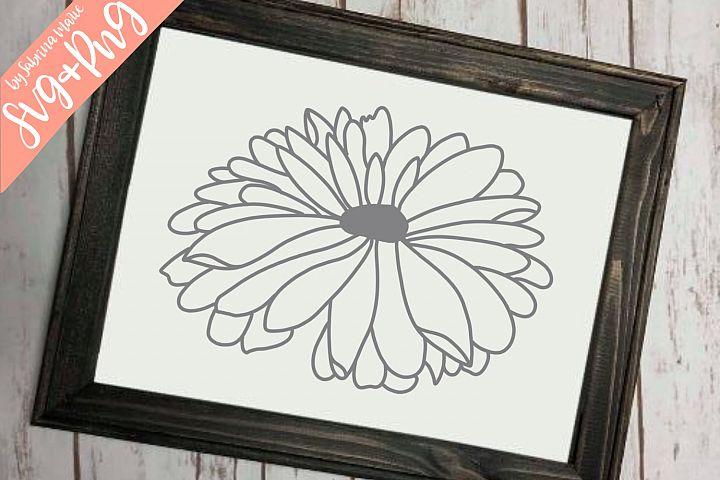 Daisy Handdrawn Flower Cut File Daisy Design SVG PNG