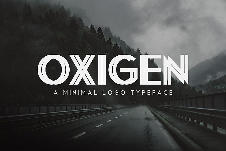 Oxigen | A Minimal Logo Typeface - Free Font of The Week