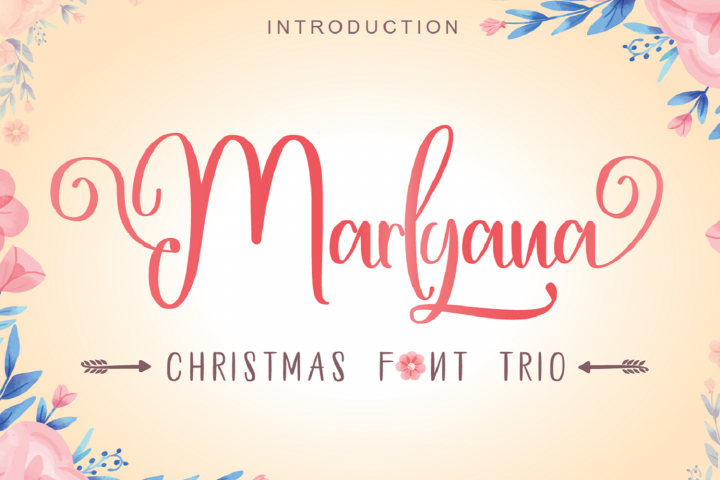 Happy Marlyana font trio