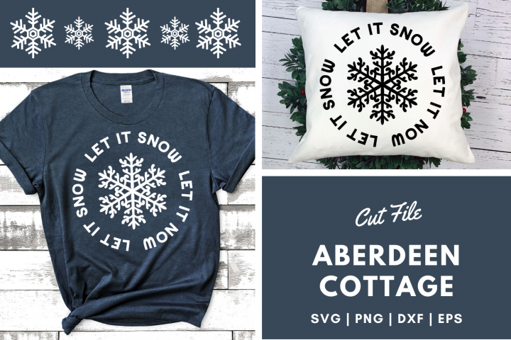 Let It Snow 3 SVG | PNG | DXF | EPS