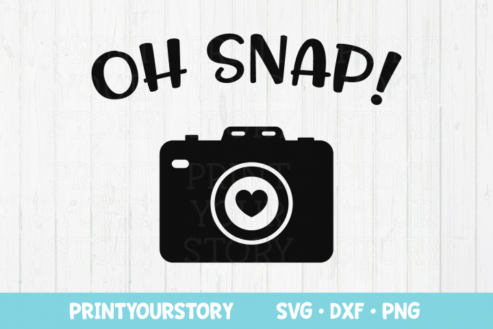 Oh Snap! Photography Clipart - SVG DXF PNG file