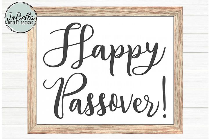 Happy Passover SVG and Printable Jewish Holiday Design