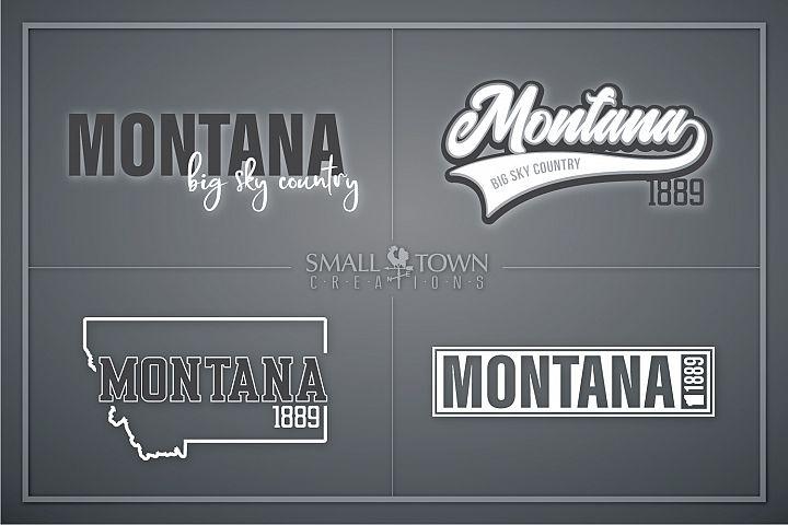 Montana, Big Sky Country - slogan, Logo, PRINT, CUT & DESIGN