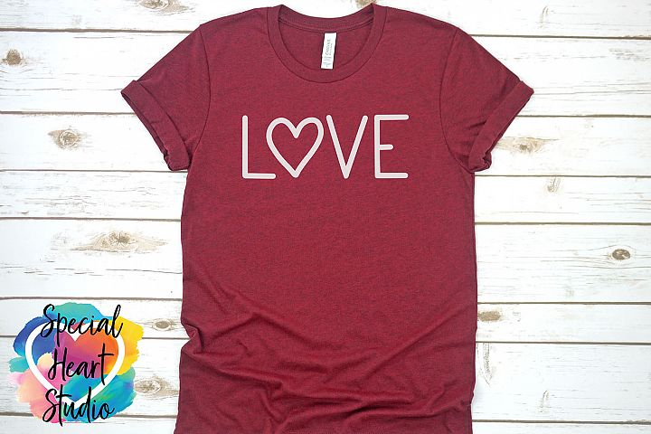 Hand lettered LOVE SVG