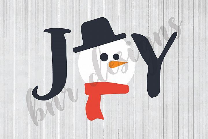 Christmas SVG, Joy SVG, Snowman SVG, SVG Files, DXF Files