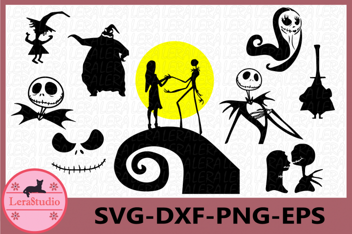 Nightmare Before Christmas SVG, Jack Skellington svg