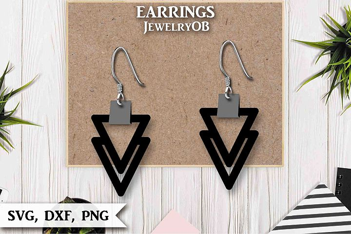 Earrings, Cut File, SVG DXF PNG