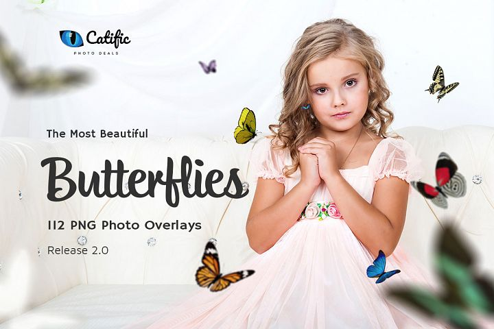 112 Butterfly Photo Overlays 2.0