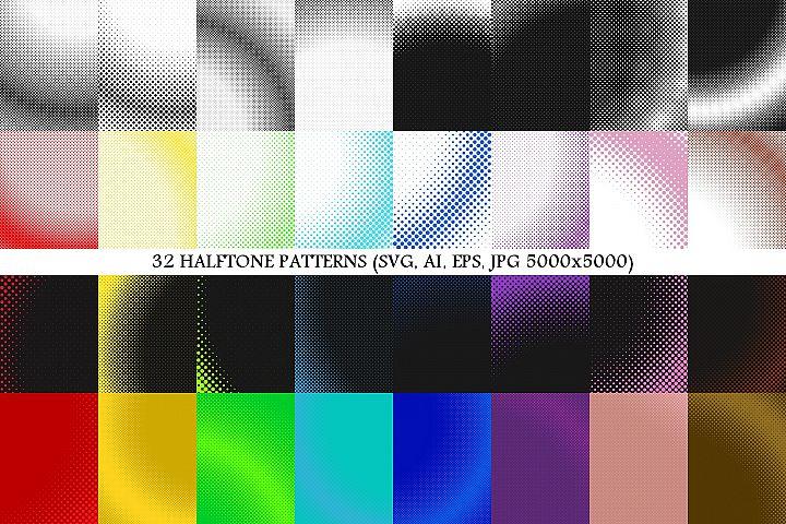 32 Halftone Patterns