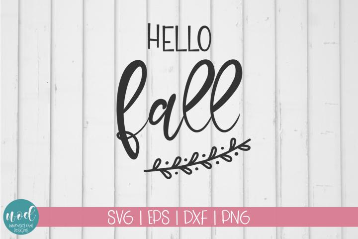 Hello Fall SVG File
