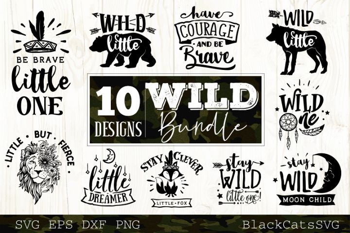 Wild SVG bundle 10 designs Wild Baby SVG bundle vol 3