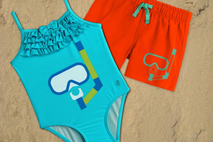 Swim Mask and Snorkel SVG File