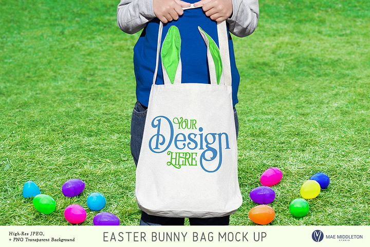 Easter Mock up - Bunny Bag