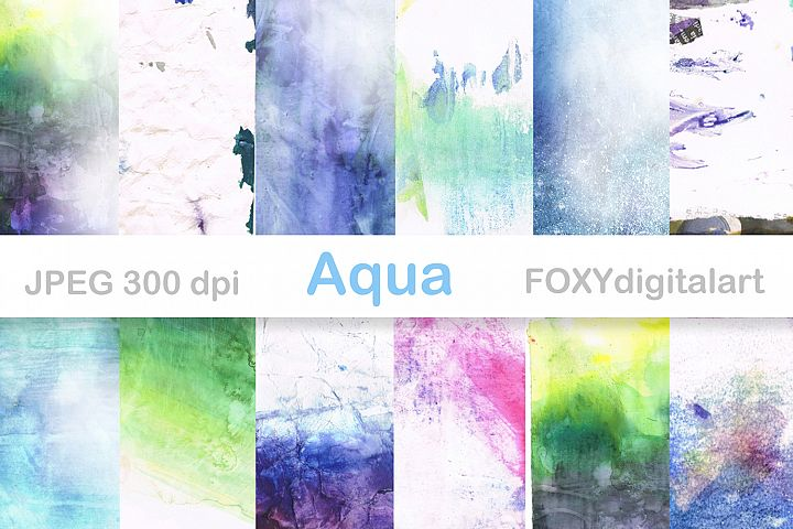 Digital Paper Watercolor Paint Brush Splatters