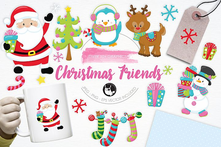 Christmas Friends graphics and illustrations - Free Design of The Week