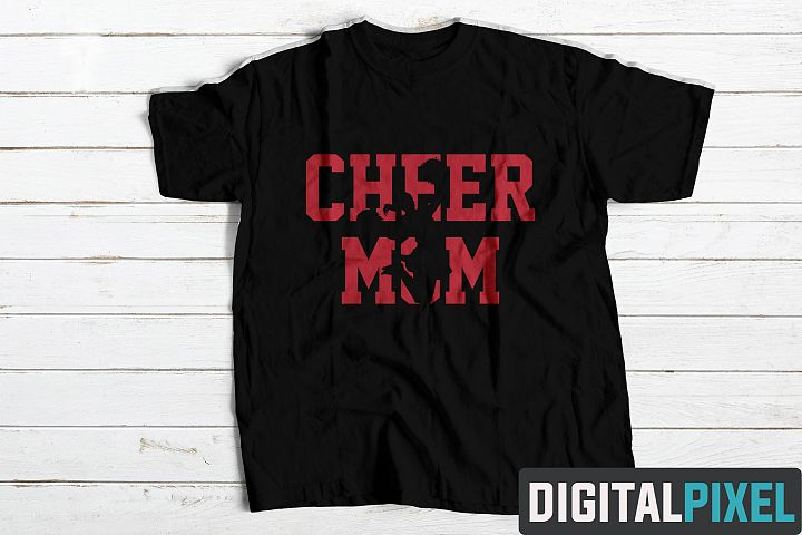 Cheer Mom SVG Cheerleader SVG PNG DXF Circut Cut Silhouette