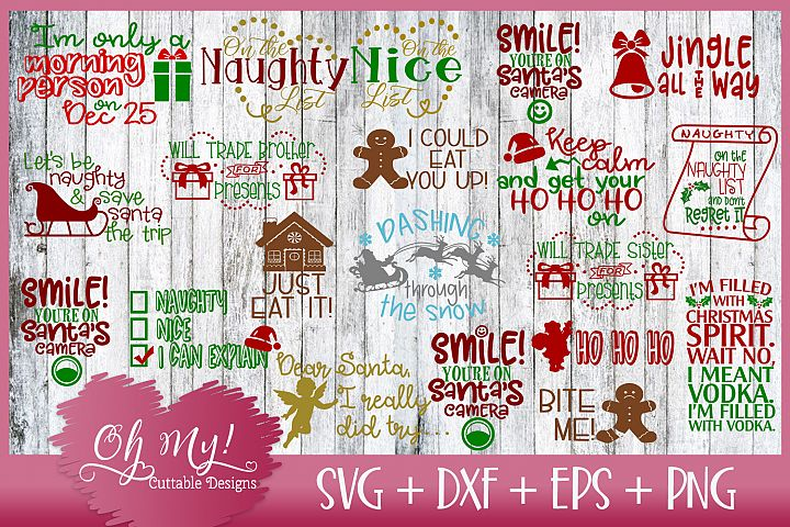 Christmas Bundle 20 Designs SVG EPS DXF Cutting Files