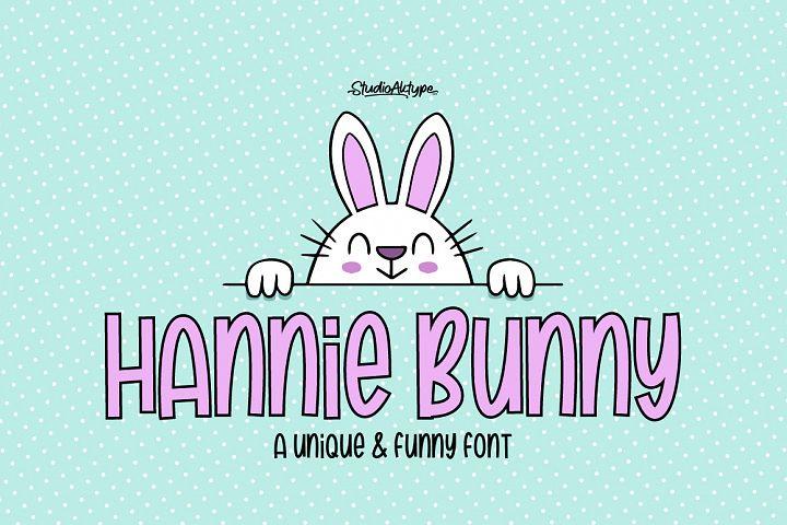 Hannie Bunny | Funny Font