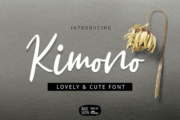 Kimono Script Font
